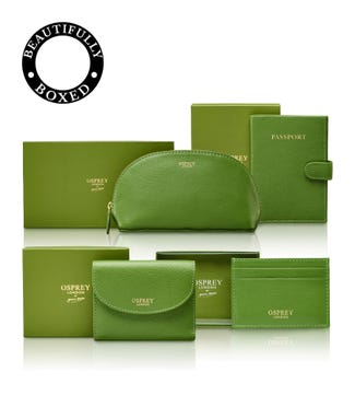 The Tilly Total Travel Set in apple green | OSPREY LONDON