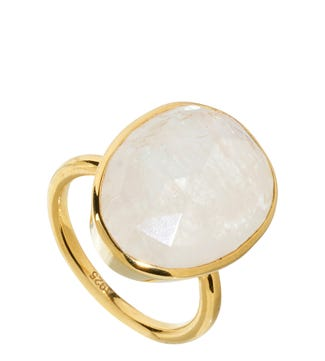 The Versailles 18ct Gold Vermeil & Moonstone Cocktail Ring | OSPREY LONDON