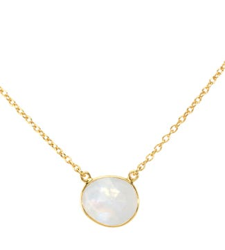 The Versailles 18ct Gold Vermeil Moonstone Necklace | OSPREY LONDON