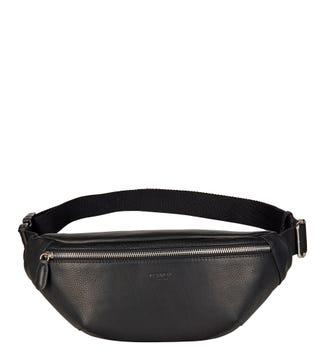 The Walker Leather Bumbag in black | OSPREY LONDON