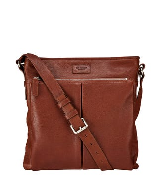 The Watson Leather Business Messenger in cognac | OSPREY LONDON