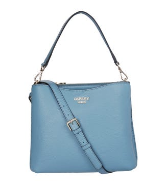 The Winchester Leather Convertible Grab in robin egg blue | OSPREY LONDON