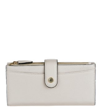 The Winchester Leather Matinee Purse in dove | OSPREY LONDON