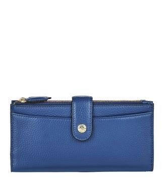The Winchester Leather Matinee Purse in ink blue | OSPREY LONDON