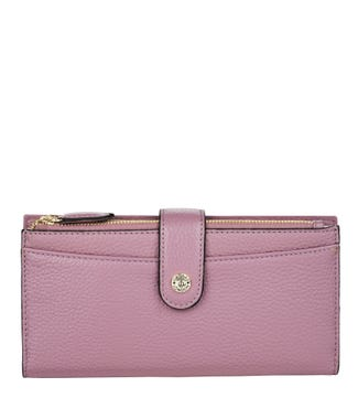 The Winchester Leather Matinee Purse in mauve | OSPREY LONDON