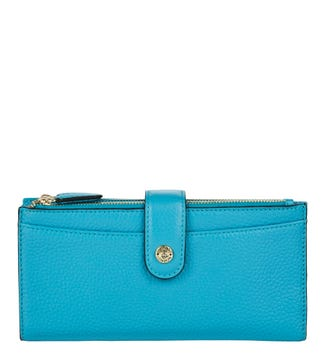 The Winchester Leather Matinee Purse in teal | OSPREY LONDON