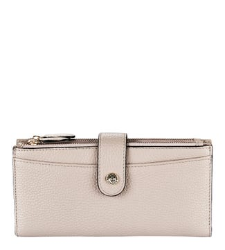 The Winchester Leather Matinee Purse in mushroom | OSPREY LONDON