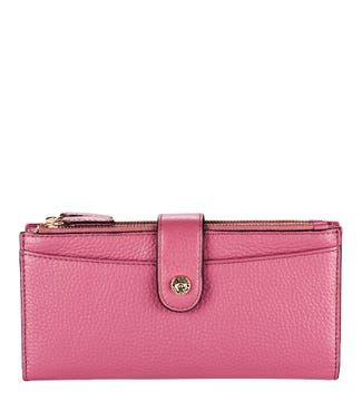 The Winchester Leather Matinee Purse in orchid pink | OSPREY LONDON