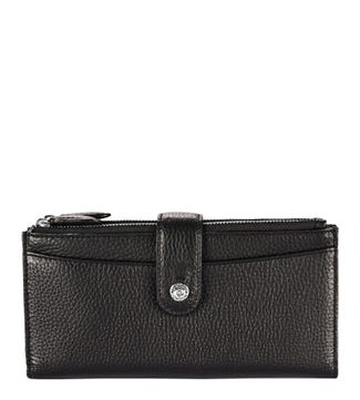 The Winchester Leather Matinee Purse in black | OSPREY LONDON