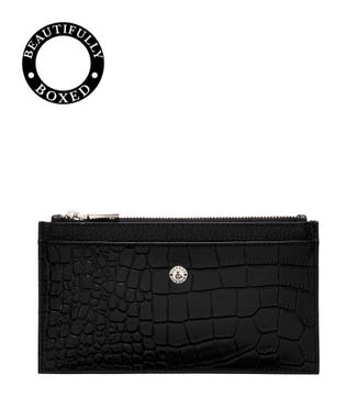 The Winslow Leather Card Pouch in black | OSPREY LONDON