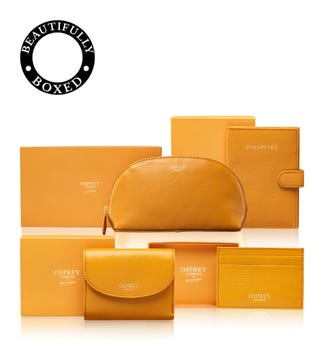 The Tilly Total Travel Set in mustard yellow | OSPREY LONDON