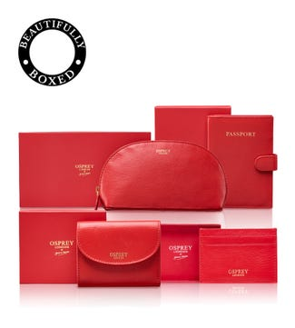 The Tilly Total Travel Set in red | OSPREY LONDON