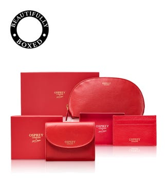 The Tilly Weekend Set in red | OSPREY LONDON