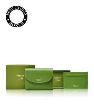 The Tilly Purse Set in apple green | OSPREY LONDON