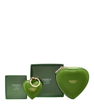 The Tilly Heart Set in apple green | OSPREY LONDON