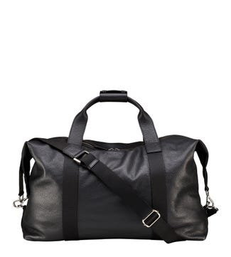 The Toby Leather Weekender in black | OSPREY LONDON