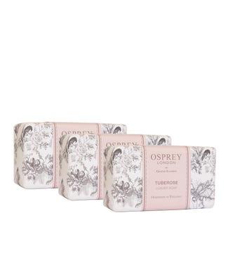 Tuberose Fragranced Soap Set of Three