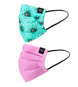Face Covering Duo Pack in floral & berry | OSPREY LONDON