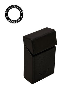 The Vice Leather Cigarette Case in black | OSPREY LONDON