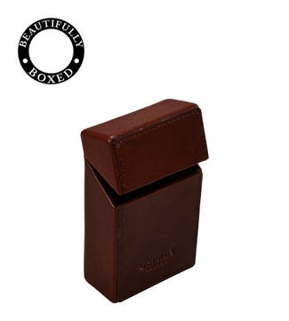 The Vice Leather Cigarette Case in chocolate | OSPREY LONDON