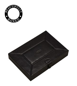 The Vice Leather Humidor in black| OSPREY LONDON