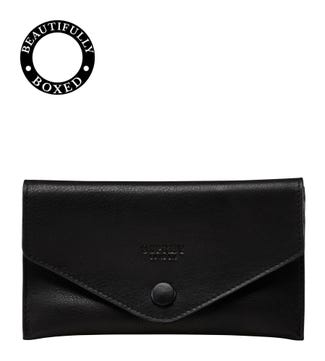 The Vice Leather Lined Tobacco Pouch in black | OSPREY LONDON
