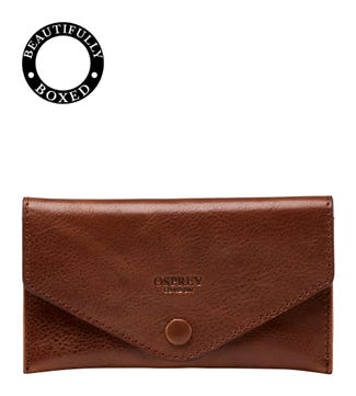 The Vice Leather Lined Tobacco Pouch in chocolate | OSPREY LONDON