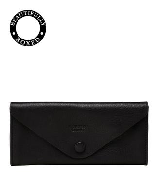 The Vice Unlined Leather Tobacco Pouch in black | OSPREY LONDON