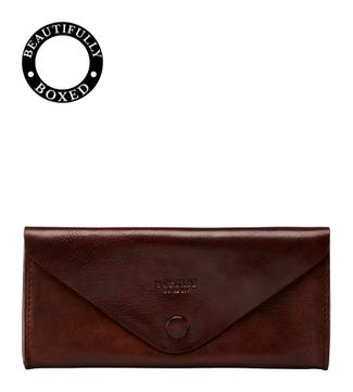 The Vice Unlined Leather Tobacco Pouch in chocolate | OSPREY LONDON
