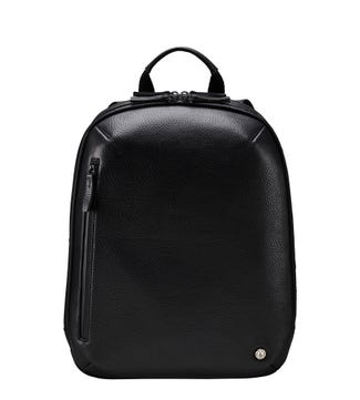 The Vince Leather Backpack in black | OSPREY LONDON