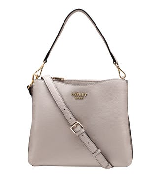 The Winchester Leather Convertible Grab in taupe | OSPREY LONDON