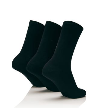 Women's Luxury Bamboo Socks Set of 3 in black | OSPREY LONDON