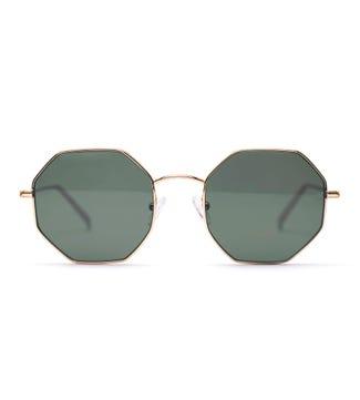 Obira Sunglasses in gold | OSPREY LONDON