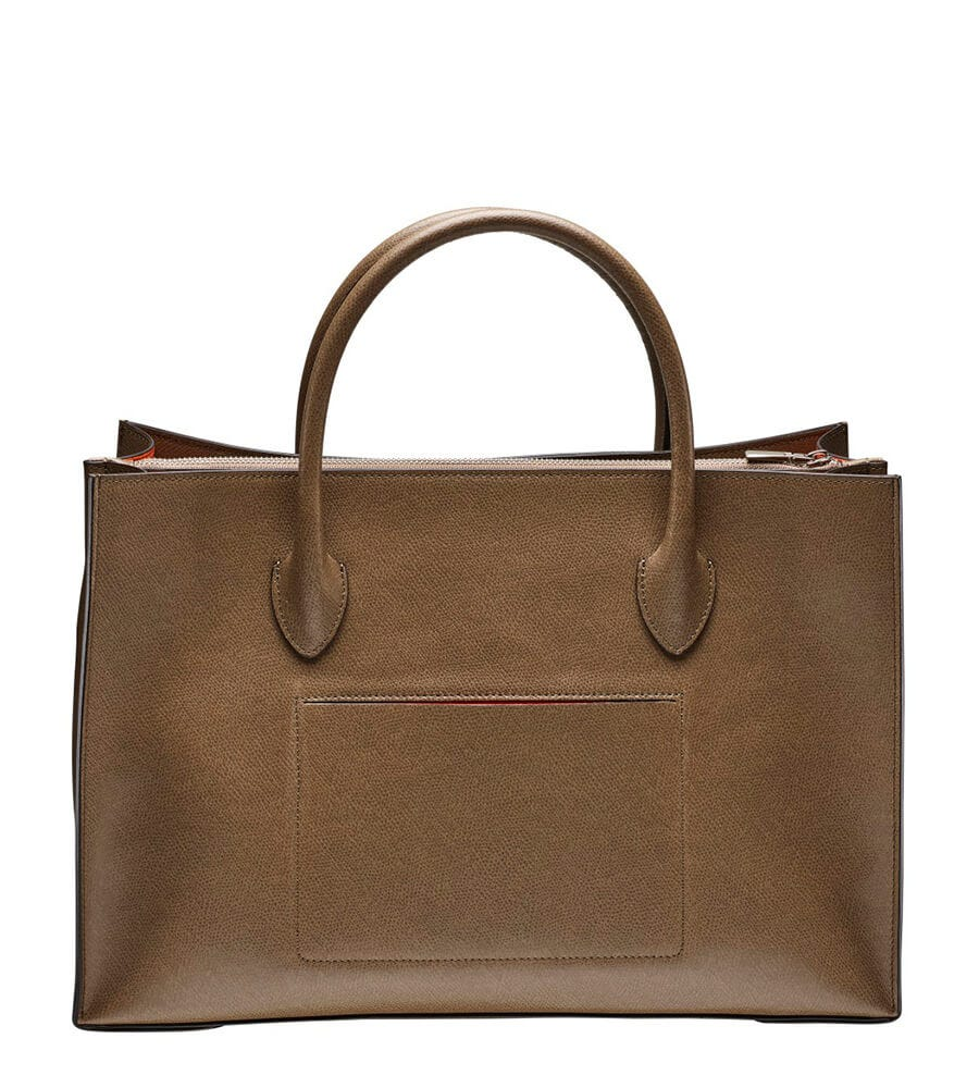 7630638ef1 The Valentina Taupe Italian Leather Workbag