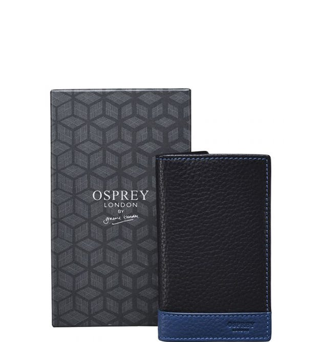 OSPREY LONDON | Black & Blue Wallet