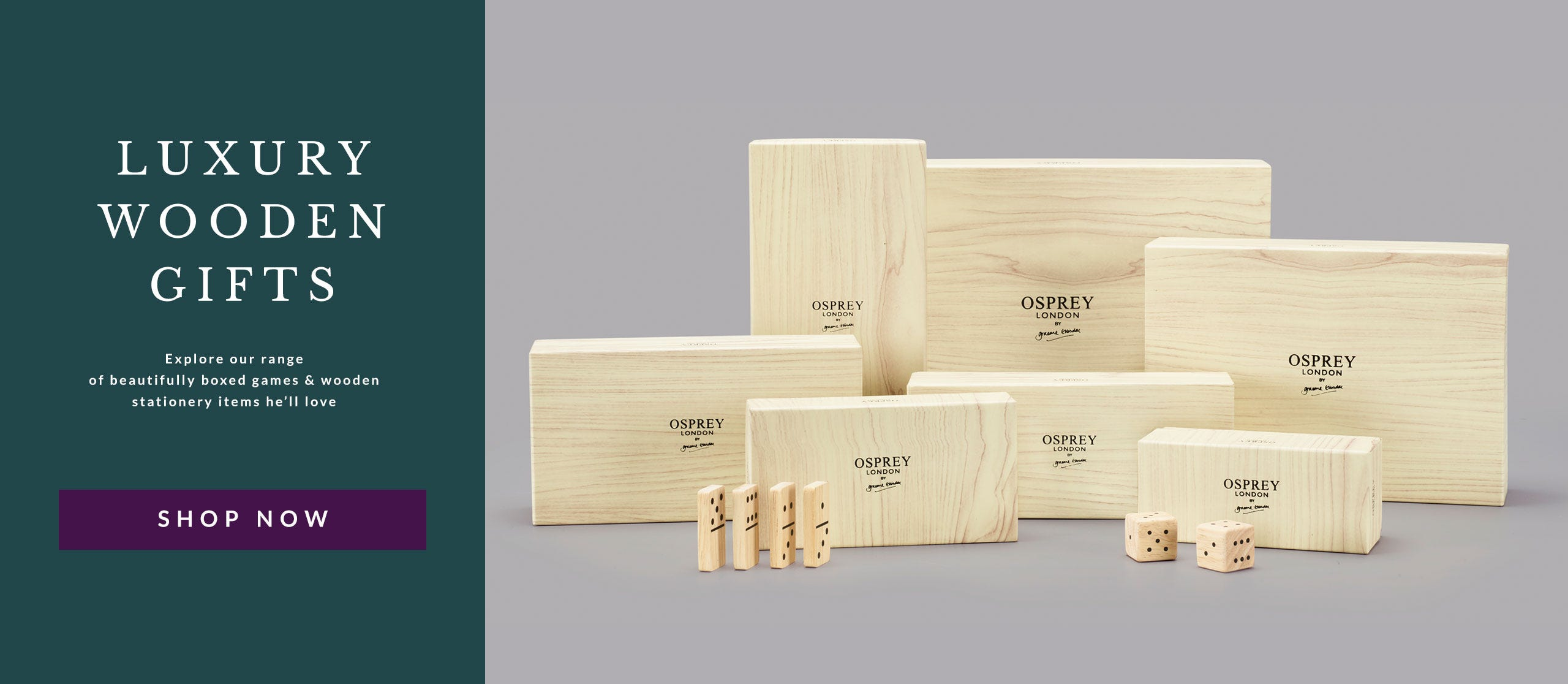 Explore OSPREY LONDON luxury wooden gifts