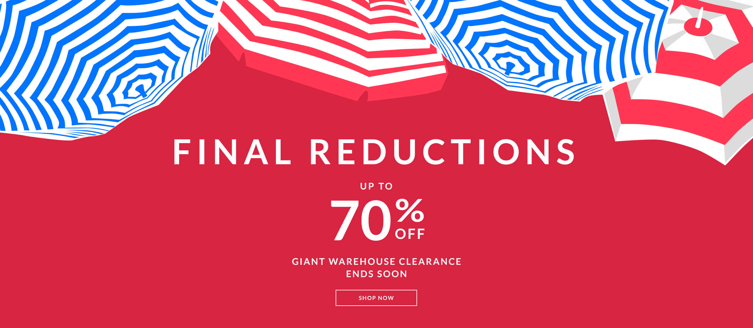 Final reductions of up to 70% in the OSPREY LONDON Giant Warehouse Clearance