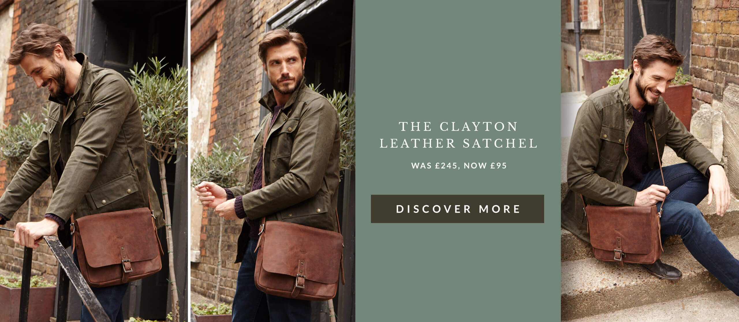 Shop the OSPREY LONDON Clayton Leather Satchel
