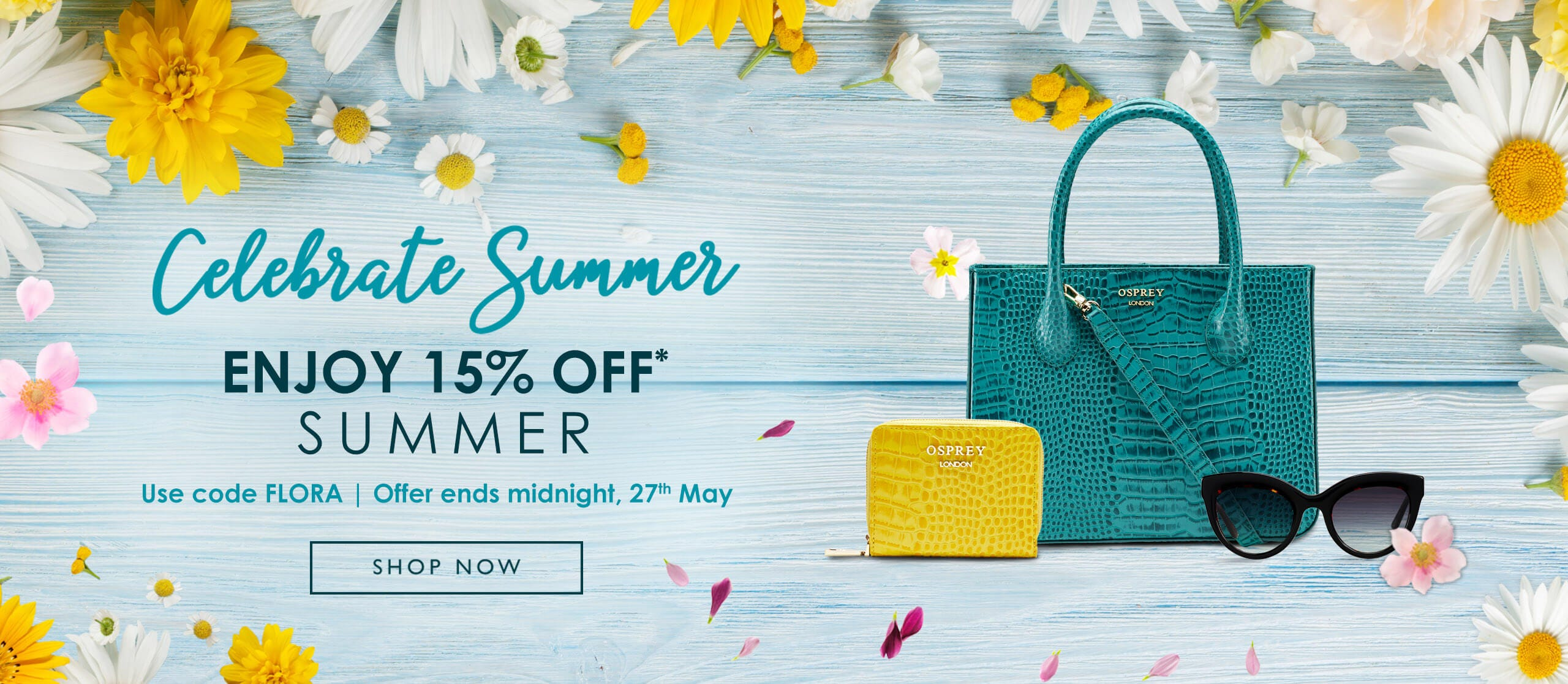 Enjoy 15% off with code FLORA