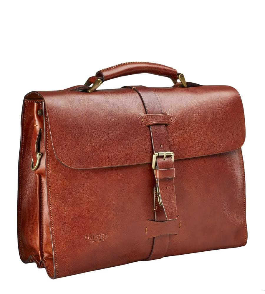 THE LEPPING ITALIAN LEATHER BRIEFCASE