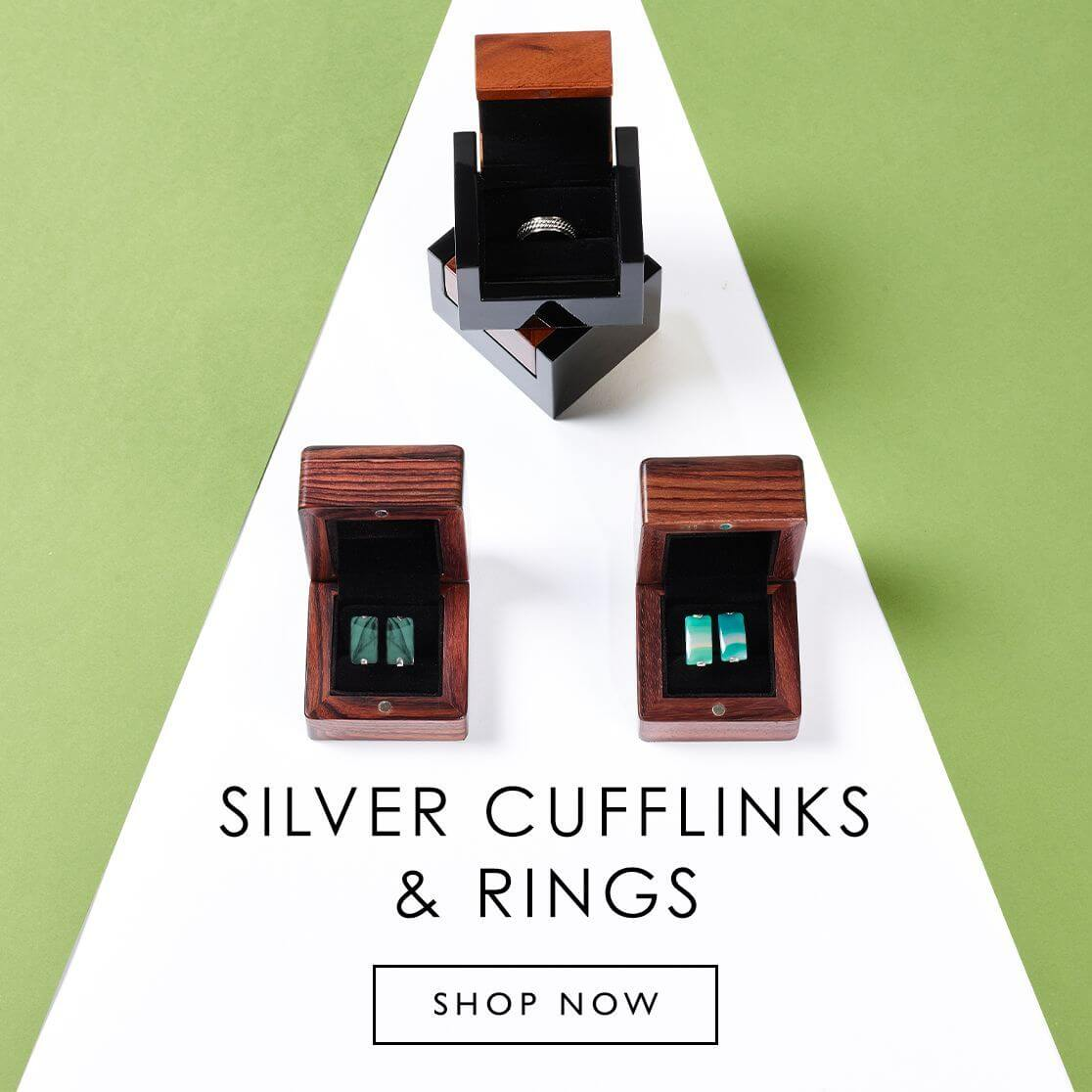 Silver Cufflinks & RIngs
