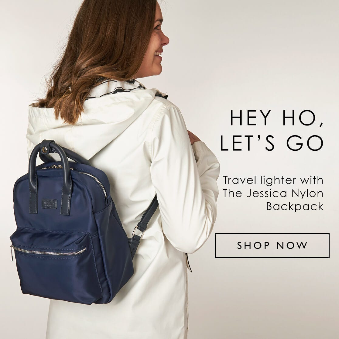 Travel lighter with The Jessica Nylon Backpack