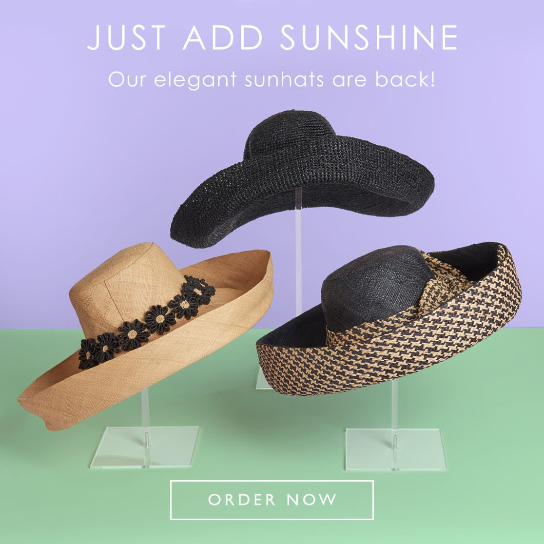 Our elegant sunhats are back!