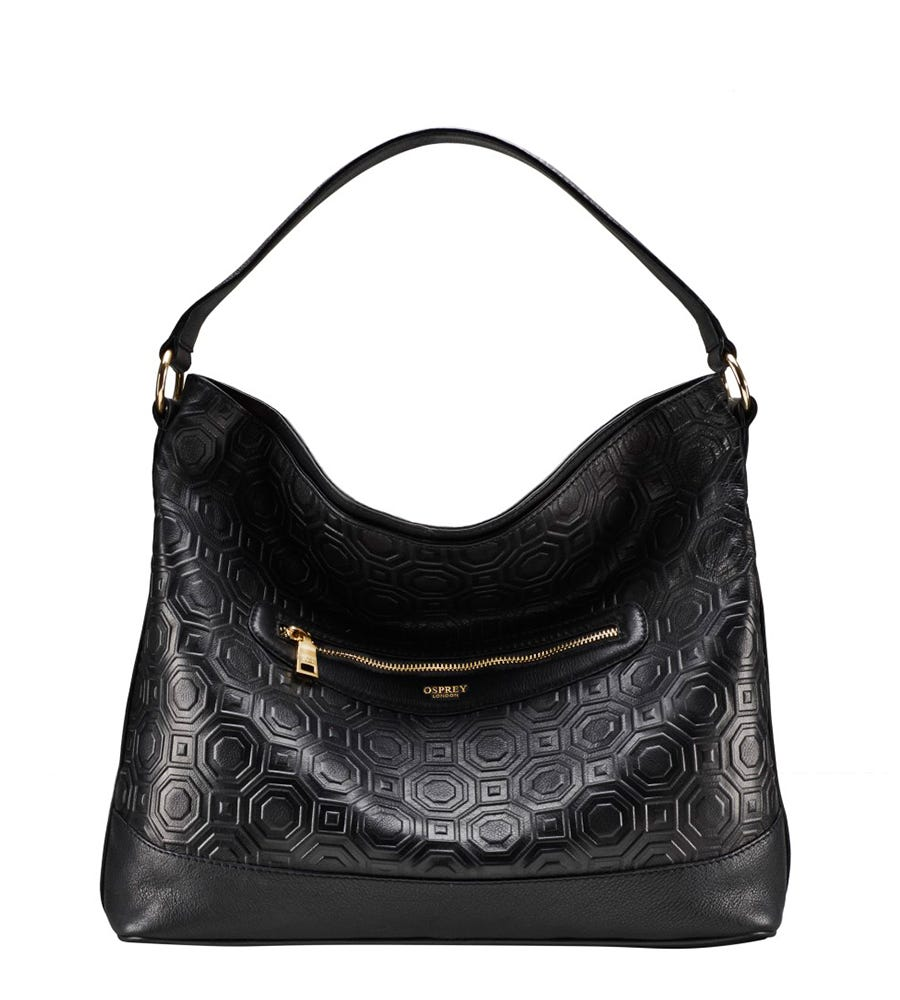 The Anmer Embossed Leather Hobo 245