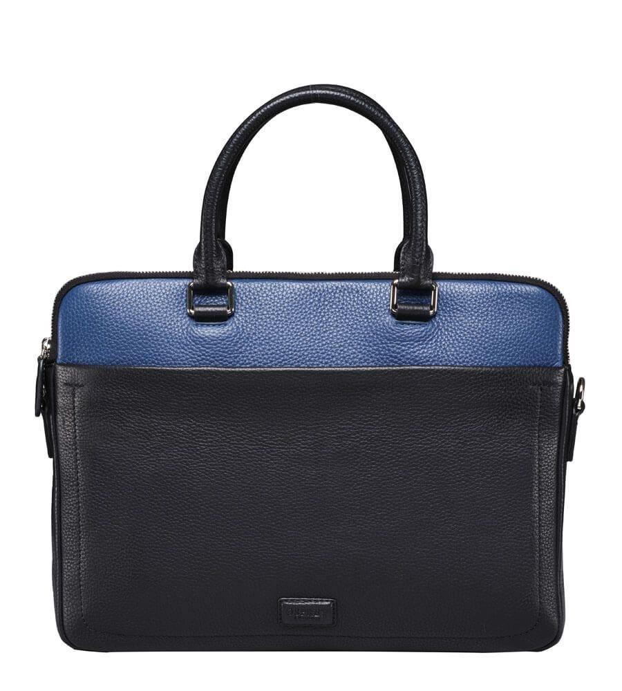 The Black Blue Leather Laptop Bag 295
