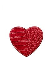 THE HEART LEATHER COASTER
