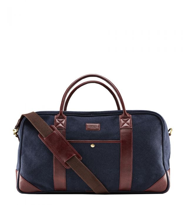 The Hunter Canvas and Leather Holdall