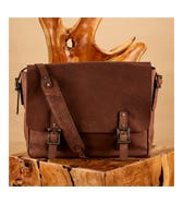 THE LARGE CLAYTON LEATHER SATCHEL