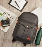 THE GRANTHAM WAXED CANVAS & LEATHER RUCKSACK