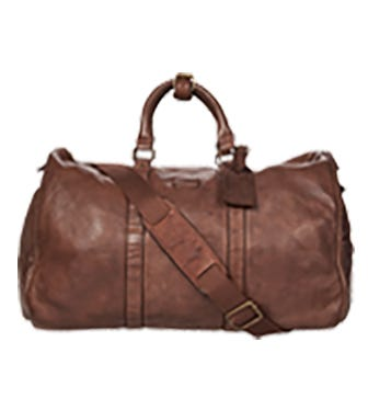 THE HAZELDEN LEATHER WEEKENDER